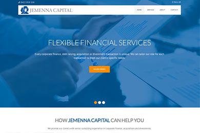 Finacial consulting website
